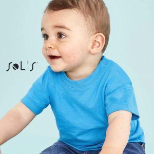 T-shirt bébé pas cher manches courtes en coton ringspun, 160 g/m²