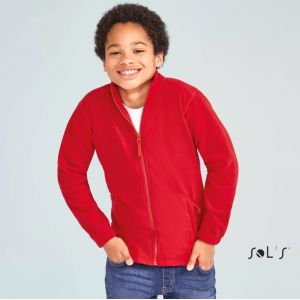 Veste polaire enfant zippée anti-bouloche avec 2 poches zippées