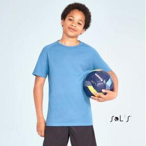 T-shirt de sport respirant pour enfant manches raglan, séchage rapide