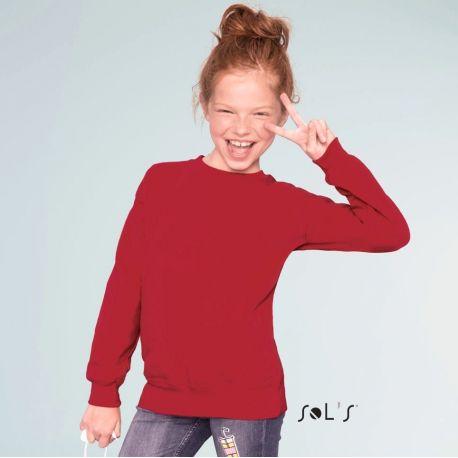 Sweat-shirt set in pour enfant, molleton gratté, 280 g/m²
