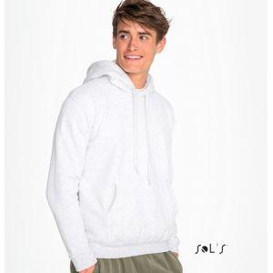 Sweat-shirt capuche uni en molleton gratté, coupe ajustée, 280 g/m²