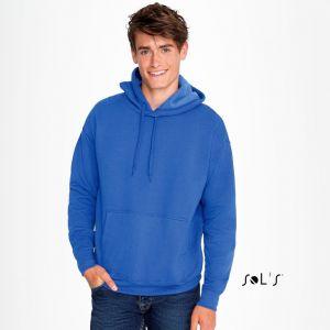 Sweat-shirt à capuche ton sur ton, molleton gratté, 320 g/m²
