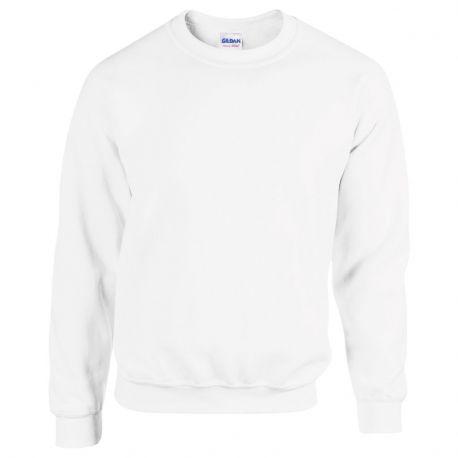 Sweat-shirt manches droites adulte col rond en polycoton, 280 g/m²