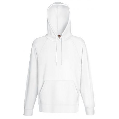 Sweat hoodie homme à capuche léger et pas cher en polycoton, 240 g/m²