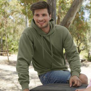 Sweat homme à capuche doublée en polycoton, poche kangourou, 280 g/m²