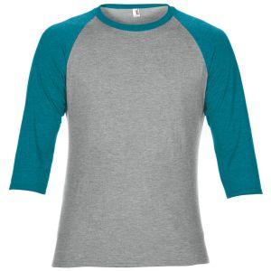 [PROMO] T-shirt col rond manches 3/4 raglan bicolores, 160 g/m²