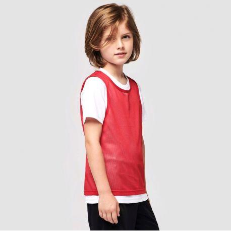 Chasuble multi-sport pour enfant en filet léger, 90 g/m²