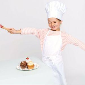 Kit chef cuisinier enfant composé d'une toque et d'un tablier