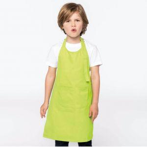 Tablier de cuisine enfant coton avec 2 grandes poches avant, 280 g/m²