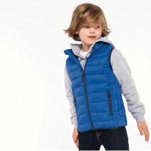 Doudoune légère sans manches enfant pratique, chaude et ultra-légère