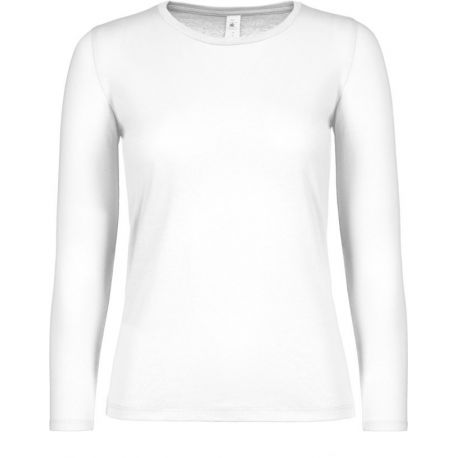 T-shirt femme manches longues en coton col rond 145 g/m²