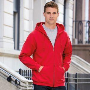 Sweat-shirt à capuche homme zippé Heavy Blend en polycoton, 280 g/m²