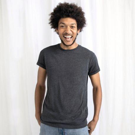 T-shirt homme à manches courtes retroussées en coton bio, 150 g/m²