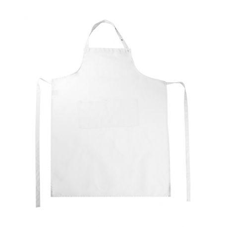 Long tablier de cuisine pratique et confortable avec poches, 205 g/m²