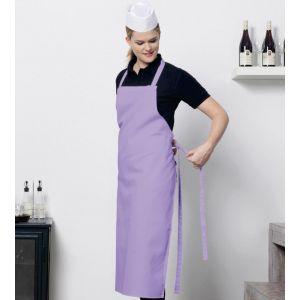 Long tablier de cuisine confortable et élégant sans poches, 205 g/m²
