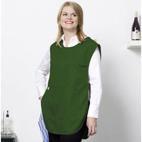 Tunique de cuisine femme ajustable à la taille avec poche, 205 g/m²
