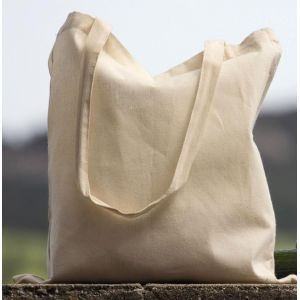 Tote bag, sac shopping en coton bio, anses longues, 140 g/m²
