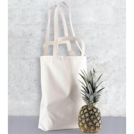 Tote bag en coton à double anses longues et courtes, 140 g/m²