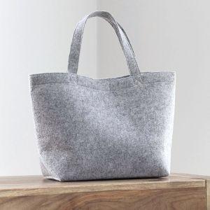 Petit sac à main en feutre, poche intérieure, anses courtes