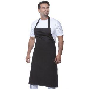 Tablier de cuisine avec bavette, ruban au cou de 60 cm, 215 g/m²
