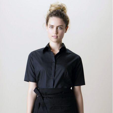 Chemise de bar femme manches courtes élégante et fonctionnelle