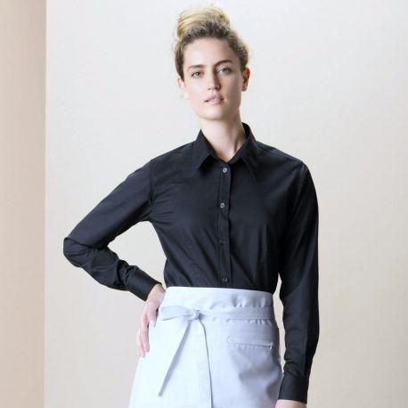 Chemise de bar femme manches longues élégante et fonctionnelle