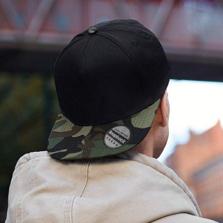 Casquette camouflage militaire en coton twill