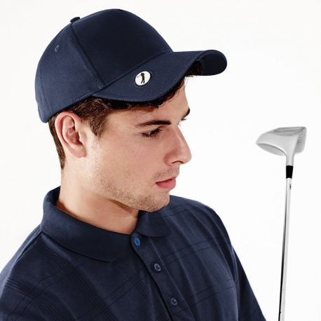 Casquette pro de golf respirante en coton chino