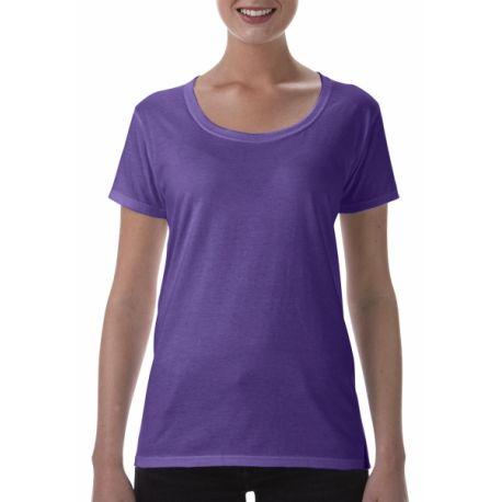 [PROMO] T-shirt femme softstyle col bateau en coton ringspun, 150 g/m²