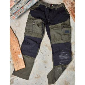 Pantalon de travail multi-poches avec parties extensibles, 210 g/m²