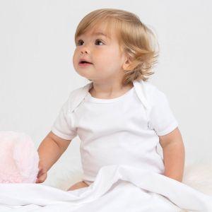 Couverture bébé doublée extra douce sans étiquette de marque