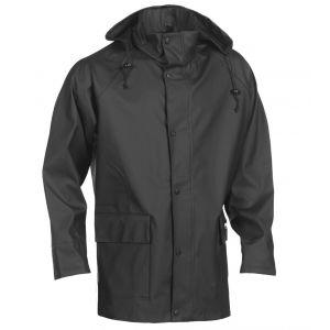 Veste de pluie imperméable et coupe-vent à capuche, 345 g/m²
