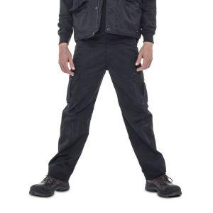 Pantalon de travail épais multi-poches en coton, 300 g/m²