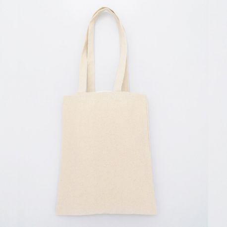 Mini tote bag, anses longues, coton canvas, 280 g/m²