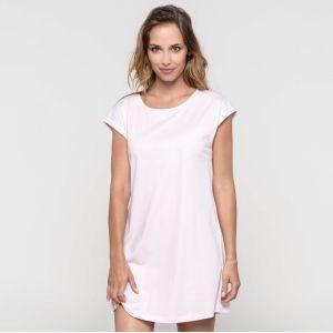 T-shirt robe femme à manches courtes sans étiquette en coton, 150 g/m²