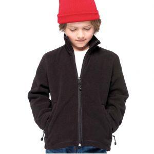 Veste zippée enfant micropolaire anti-boulochage, 2 poches zippées