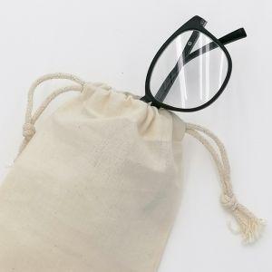 Sac de rangement à lunettes, fermeture par double cordelettes, 140 g/m²