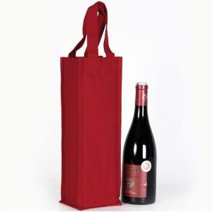 Sac porte bouteille en coton canvas avec 2 poignées, 310 g/m²