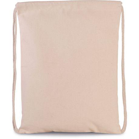 Sac à dos épais en coton avec cordons blancs, 310 g/m²