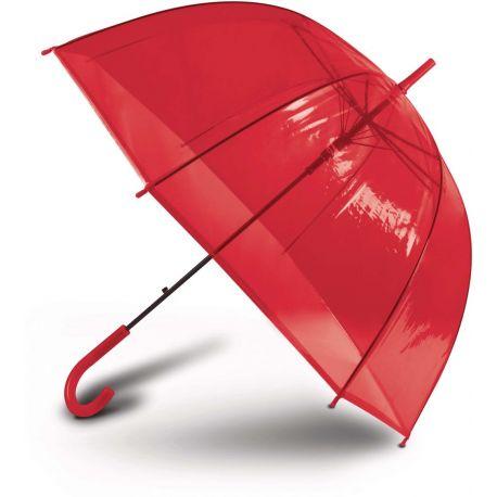 Parapluie transparent, ouverture automatique, mât en métal
