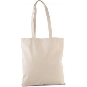 Sac shopping en coton bio épais, longues anses, 310 g/m²