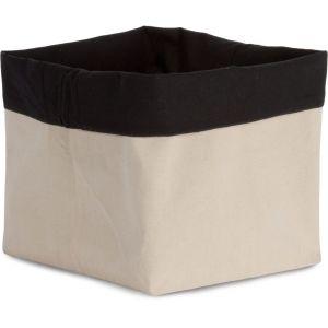 Pochette accessoire en toile de coton réversible contrasté, 310 g/m²