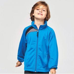 Veste de survêtement enfant zippée tricolore sans capuche, 220 g/m²