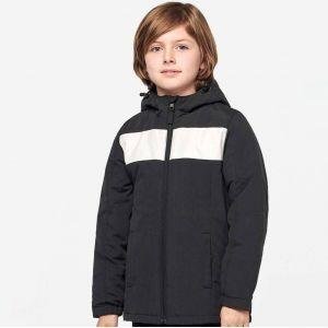 Veste de club enfant à capuche avec bande blanche, 210 g/m²