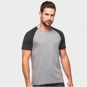 T-shirt de sport triblend bicolore manches courtes, 130 g/m²