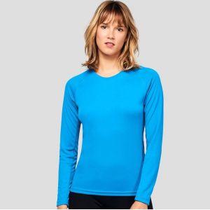 T-shirt manches longues femme respirant à séchage rapide, 140 g/m²