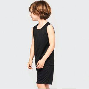 Ensemble enfant maillot sans manches et short basketball réversible