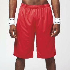 Short adulte basketball sans manches réversible, 150 g/m²