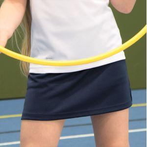 Jupe-short de sport pour fille avec short intégré, 210 g/m²
