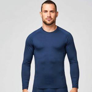 T-shirt de sport adulte double peau manches longues, 200 g/m²